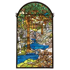 Country Tiffany Waterbrooks Stained Glass Window