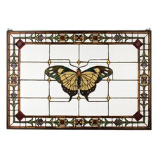 <strong>Meyda Tiffany</strong> Tiffany Floral Nouveau Insects Victorian Butterfly Stained Glass Window
