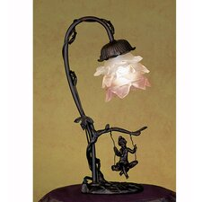Cherub On Swing Accent Table Lamp