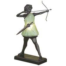 "Silhouette Diana the Huntress 15"" H Table Lamp"