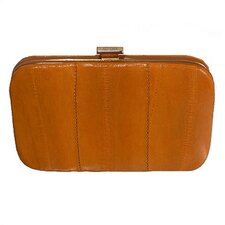 <strong>Latico Leathers</strong> Eel Skin Framed Business Card Case