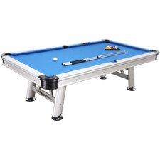 Extera Outdoor 8' Pool Table with Playing Equipment