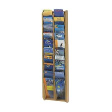 Large Overlapping Wood Display Pockets in Oak Sand