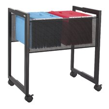 Adjustable Mesh Mobile in File Cart in Black
