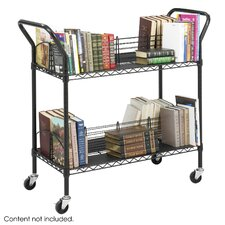 Wire Book Cart in Black