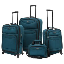 <strong>U.S. Traveler</strong> Fashion 4 Piece Spinner Luggage Set