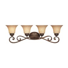 Mendocino 4 Light Vanity Light