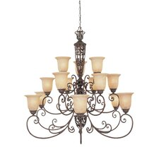 <strong>Designers Fountain</strong> Amherst 15 Light Chandelier