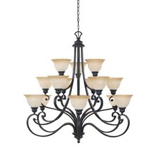 <strong>Designers Fountain</strong> Barcelona 15 Light Chandelier
