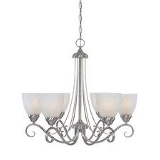 <strong>Designers Fountain</strong> Stratton 6 Light Chandelier