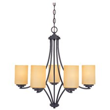 <strong>Designers Fountain</strong> Marbella 5 Light Chandelier