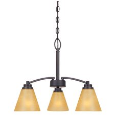 <strong>Designers Fountain</strong> Arcadia 3 Light Chandelier