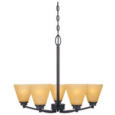 <strong>Designers Fountain</strong> Arcadia 5 Light Chandelier