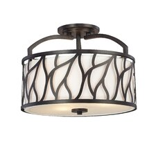 <strong>Designers Fountain</strong> Modesto 3 Light Semi-Flush Mount