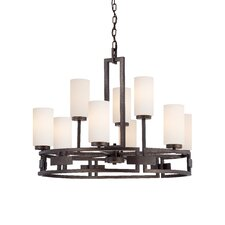 <strong>Designers Fountain</strong> Del Ray 9 Light Chandelier