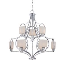 <strong>Designers Fountain</strong> Mirage 9 Light Chandelier