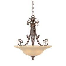 <strong>Designers Fountain</strong> Amherst 3 Light Inverted Pendant