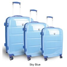 Vanesta 3 Piece Polycarbonate Expandable Spinner Luggage Set