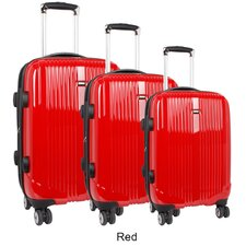 <strong>J World</strong> Concord 3 Piece Polycarbonate Expandable Spinner Luggage Set