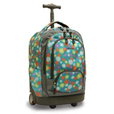 "Sunbeam 18"" Laptop Rolling Backpack"