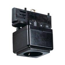 Eutrac Track-Plug Socket in Black