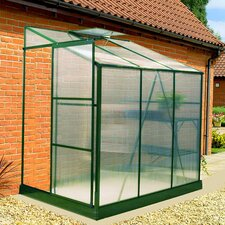 BIO-Star 6' W x 4' D Polycarbonate Lean-To Greenhouse
