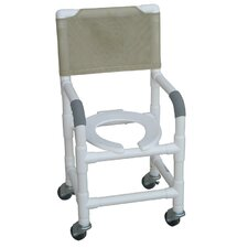 "Standard Deluxe 15"" Small Adult Shower Chair with Optional Accessories"