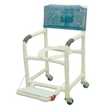 <strong>MJM International</strong> Standard Deluxe Shower Chair with Footrest with Optional Accessories