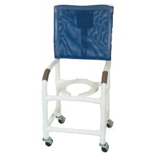 <strong>MJM International</strong> Standard Deluxe Shower Chair with High Back and Optional Accessories
