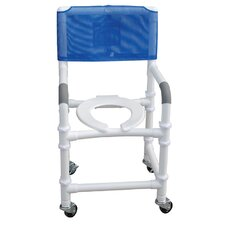 Standard Deluxe Knocked Down Shower Chair with Optional Accessories