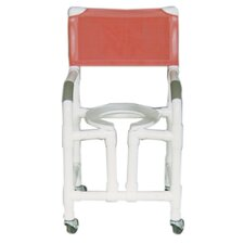 Standard Deluxe Shower Chair with True Vertical Open Front Frame and Optional Accessories