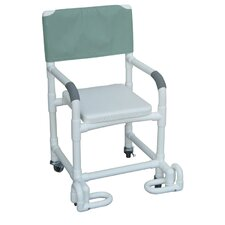 Standard Deluxe Shower Chair with Soft Seat and Footrest with Optional Accessories