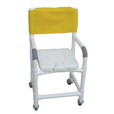 <strong>MJM International</strong> Standard Deluxe Shower Chair with Dual Use Soft Seat and Optional Accessories