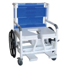 Wide Self Propelled Bariatric Beach/Pool Shower/Commode Wheelchair