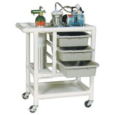 Emergency Crash Cart with Optional Accessories