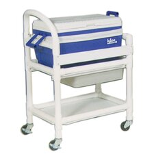 Hydration Cart with 48 Quart Ice Chest and Side Panels