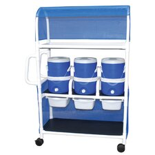 Hydration Cart with 3-5 Gallon Water Cooler with Side Panels and Canopy