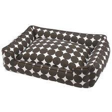 Speckle Lounge Bolster Dog Bed