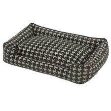 Flocked Lounge Dog Bed