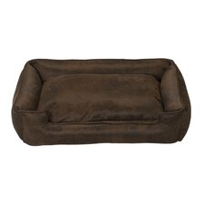 <strong>Jax & Bones</strong> Faux Leather Lounge Bolster Dog Bed