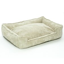 Corduroy Lounge Dog Bed in Sand