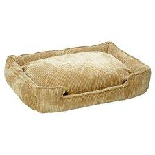 Corduroy Lounge Bolster Dog Bed