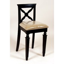 "24"" Bar Stool in Distressed Black"