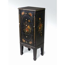 Six Drawer Jewelry Armoire in Black