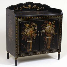 <strong>AA Importing</strong> 2 Door Cabinet with Floral Design