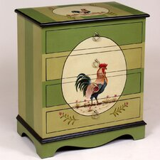 4 Drawer Chest with Rooster