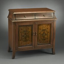 <strong>AA Importing</strong> 2 Door 2 Drawer Stained Glass Inspired Cabinet
