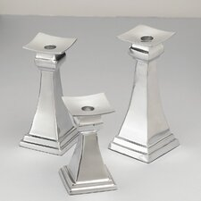 Aluminum Candlesticks (Set of 3)