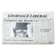 "Tischset ""Newspaper Italian"""