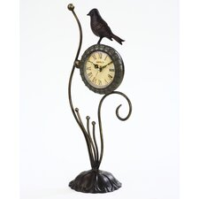 "15.2"" x 5.6"" Metal Decor Tabletop Clock"